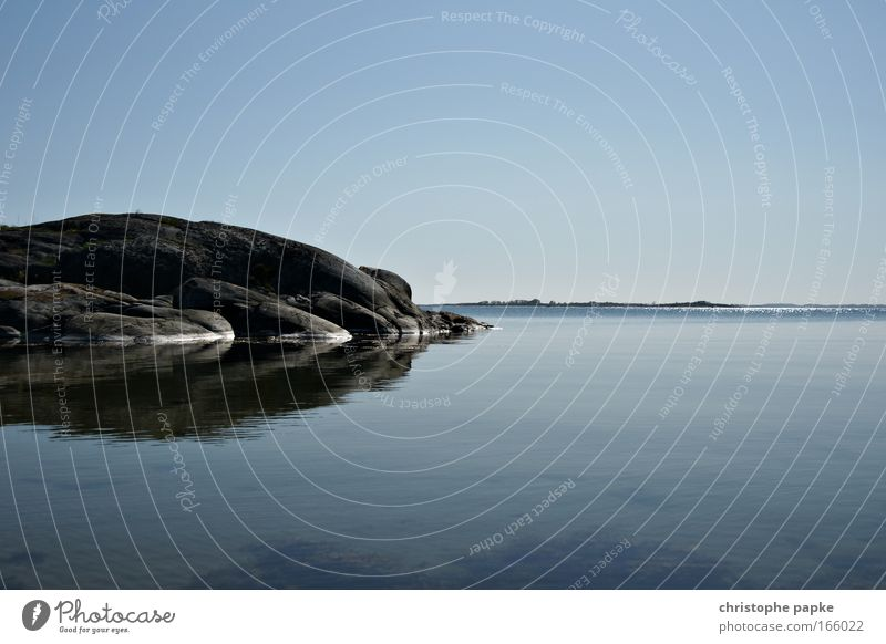 Sandhamn Natur Wasser Himmel Meer Sommer Ferien & Urlaub & Reisen ruhig Einsamkeit Ferne Erholung Freiheit See Landschaft Küste Felsen Ausflug