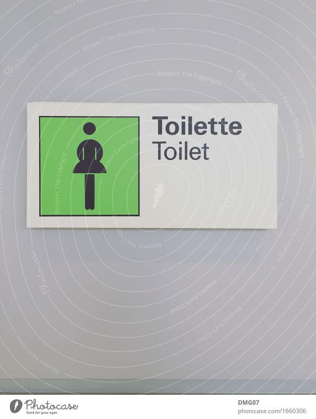 Toilette Mensch Frau Jugendliche Junge Frau grün Erwachsene Wand Gefühle feminin Gebäude Mauer Kunst grau Fassade Körper Schriftzeichen