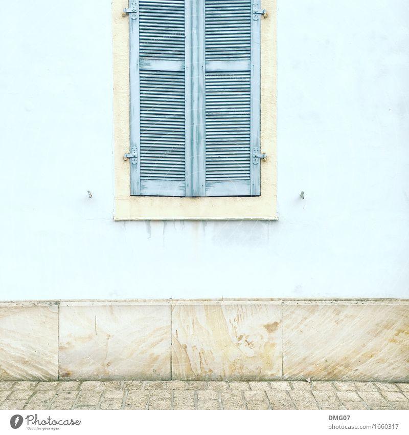 Window alt blau Stadt Haus Fenster Architektur gelb Wand Holz Gebäude Mauer Stein Fassade Metall Tür geschlossen