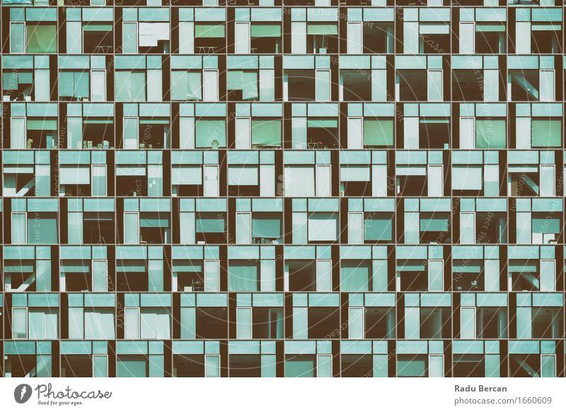 Geschäft, das Windows abstraktes Detail aufbaut Stadt blau Fenster schwarz Architektur Gebäude Business Fassade Arbeit & Erwerbstätigkeit Büro Glas Erfolg