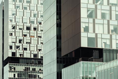 Geschäft, das Windows abstraktes Detail aufbaut Stadt blau Fenster Architektur Gebäude Business Fassade Häusliches Leben modern Glas Hochhaus Erfolg Macht