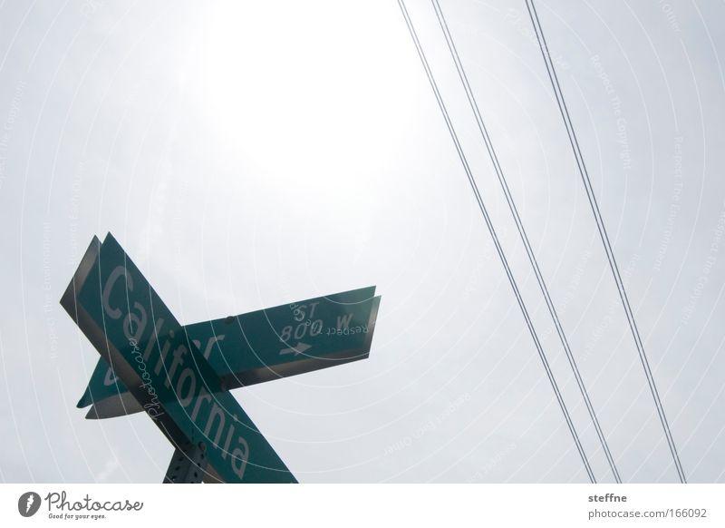 CA ALLL DAYYY!!! Gedeckte Farben Außenaufnahme Textfreiraum oben Gegenlicht Elektrizität Stromdraht Hochspannungsleitung Oberleitung Himmel Sonne San Diego