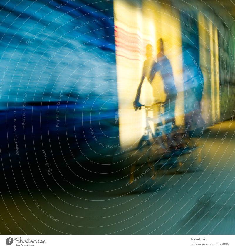 [MUC-09] Mit dem Rad in andere Sphären² Mensch Mann Farbe Erwachsene Bewegung Freizeit & Hobby maskulin Geschwindigkeit fahren Tunnel Alkoholisiert Dynamik