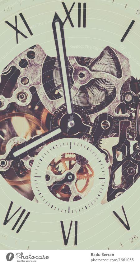 Automatische Herrenuhr mit sichtbarem Mechanismus Mode Bekleidung Accessoire Armbanduhr Glas Zeichen Ziffern & Zahlen schön einzigartig retro gold schwarz weiß