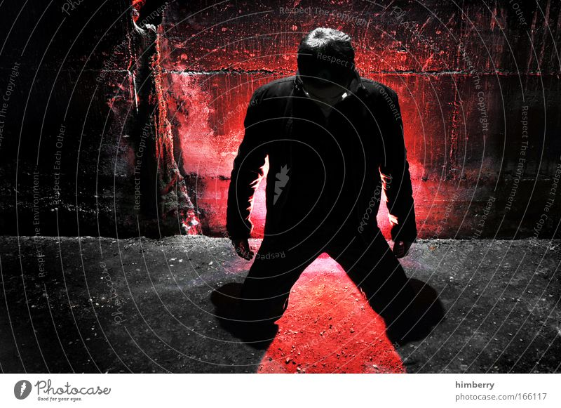 freakshow Mensch rot Erwachsene dunkel Leben Religion & Glaube Stil Angst maskulin Design Show gruselig Todesangst Veranstaltung skurril Jugendkultur