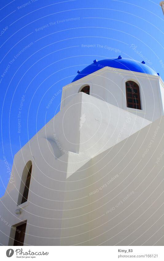 Dem Himmel so nah weiß Meer blau schwarz Freiheit Zufriedenheit Architektur Fassade Europa Hoffnung ästhetisch Insel Dach Kultur Unendlichkeit