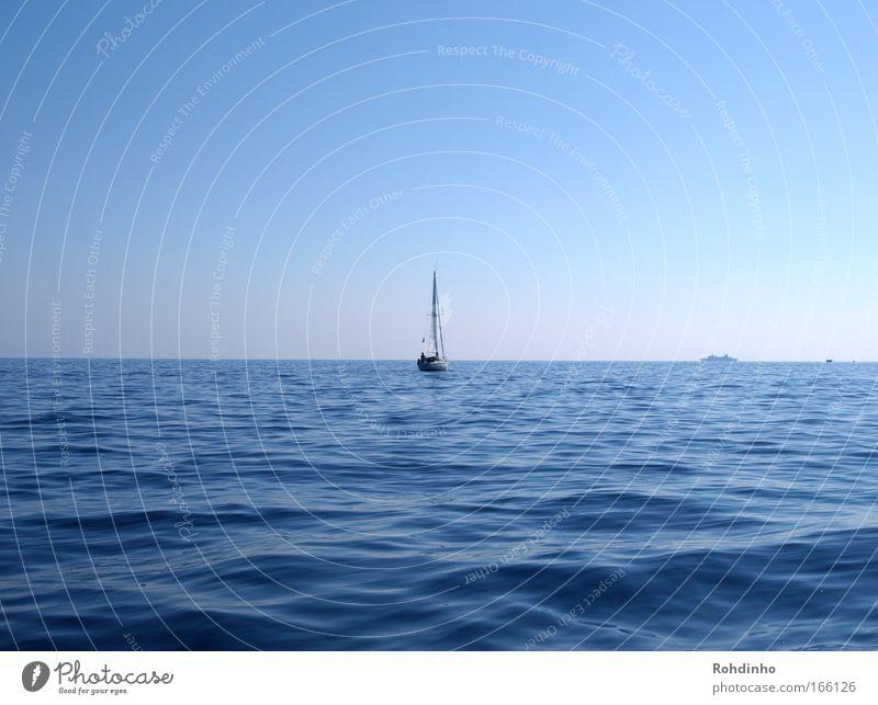 sail away with me Wasser Himmel Meer Sommer Freude ruhig Ferne Erholung Glück Luft Wasserfahrzeug Abenteuer Gelassenheit Segeln genießen
