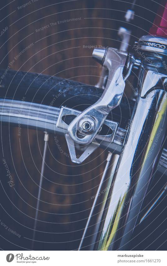 vintage rennrad chrome gabel bremse Bewegung Sport Stil Lifestyle Design Freizeit & Hobby Verkehr elegant Fahrrad ästhetisch authentisch retro genießen