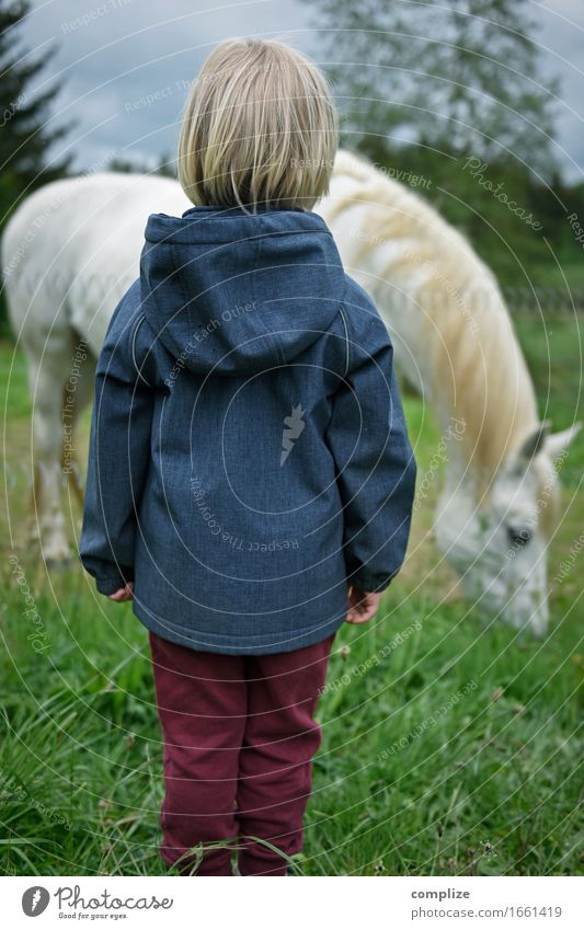 White Horse Freude Glück Freizeit & Hobby Ferien & Urlaub & Reisen Tourismus Ausflug Sommer Sommerurlaub Reiten Kind Kleinkind Familie & Verwandtschaft 1 Mensch