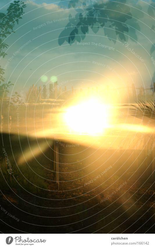 FeuerSonneBlitz Nebel Blitze Wärme glänzend heiß bedrohlich Spiegelung Kugelblitz gefallen Farbfoto Außenaufnahme Experiment abstrakt Reflexion & Spiegelung