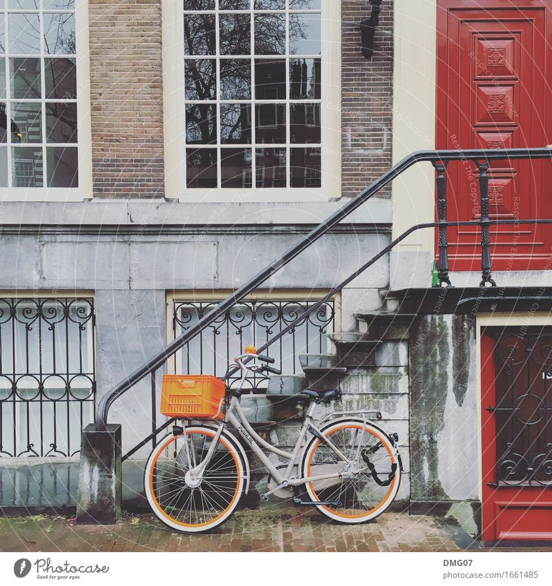 Bike Ferien & Urlaub & Reisen Sommer Stadt Haus Fenster Architektur Frühling Lifestyle Gebäude Stein Tourismus Fassade Design Wohnung Häusliches Leben Tür