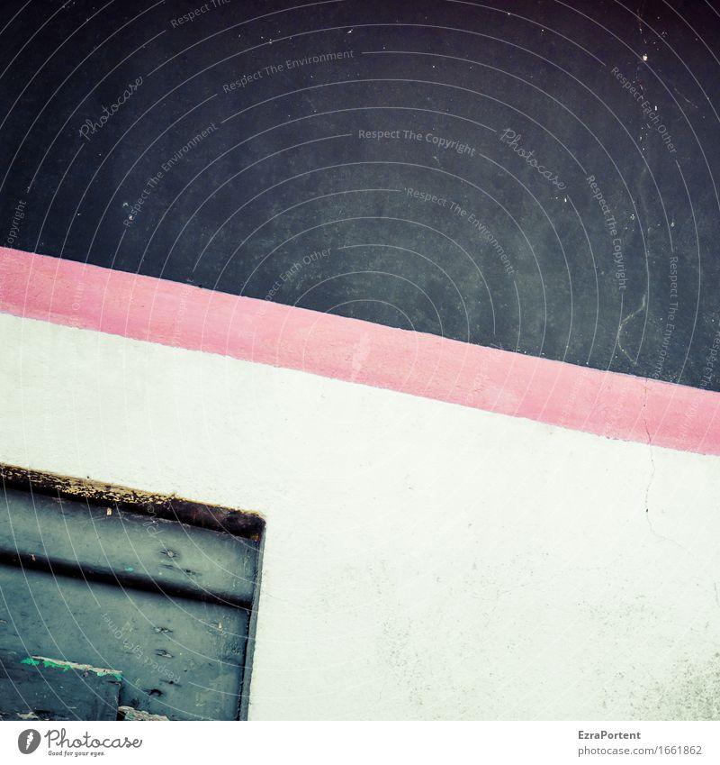 432306161635AO Haus Mauer Wand Fassade Linie Streifen rot weiß Design Farbe trist alt graphisch Grafik u. Illustration Grafische Darstellung Hintergrundbild