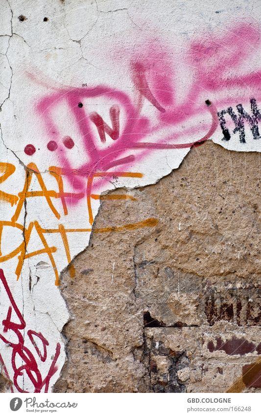 bröckelnde Vergänglichkeit Farbfoto mehrfarbig Außenaufnahme Detailaufnahme Muster Menschenleer Vorderansicht Industrieanlage Fabrik Ruine Bauwerk Gebäude Mauer