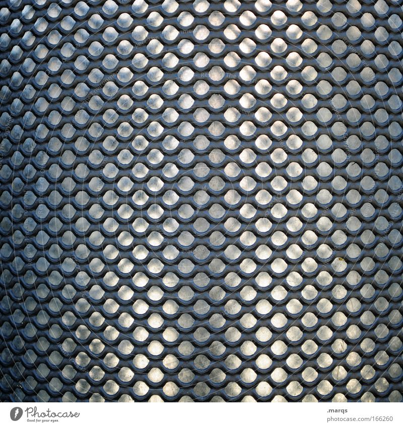 Raster Farbfoto Gedeckte Farben Detailaufnahme elegant Design Metall außergewöhnlich glänzend grau silber Symmetrie Strukturen & Formen Muster Noppe Loch