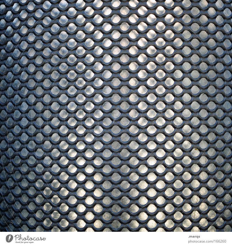 Raster grau Metall glänzend Hintergrundbild Design elegant nah Muster außergewöhnlich Loch silber Symmetrie Noppe