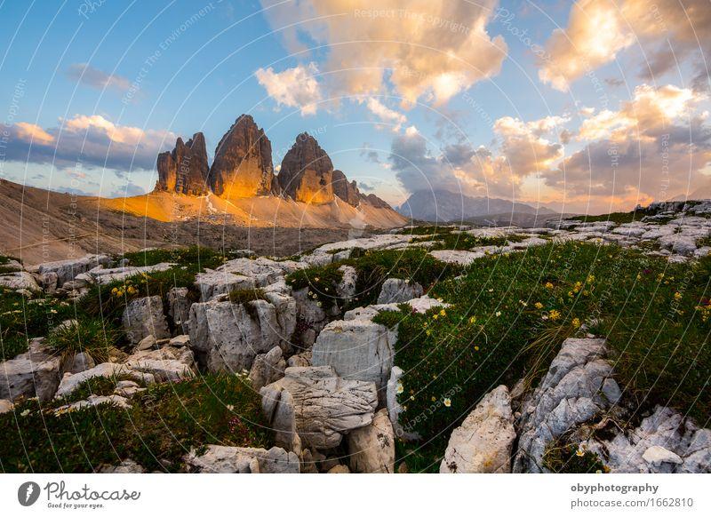 Sonnenuntergang über den Gipfeln schön Ferien & Urlaub & Reisen Berge u. Gebirge Klettern Bergsteigen wandern Natur Landschaft Himmel Wolken Sonnenaufgang