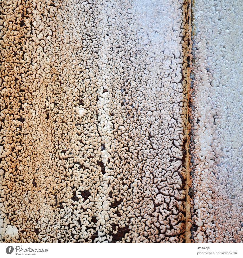 Rusty alt Metall Linie dreckig verrückt außergewöhnlich einzigartig Vergänglichkeit verfallen Rost skurril bizarr abstrakt exotisch komplex