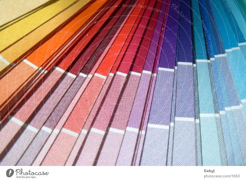 Farbfächer Farbe Dinge Auswahl Fächer Beschriftung CMYK Mediengestalter