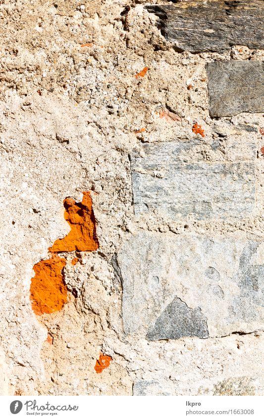 Texturmaterial der Hintergrund Design Haus Tapete Gebäude Architektur Stein Beton alt dreckig retro braun gelb grau rot schwarz weiß orange antik Schritt Klotz