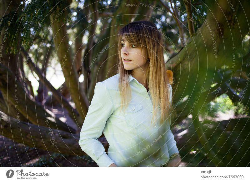 into the woods Mensch Jugendliche schön Junge Frau Wald 18-30 Jahre Erwachsene feminin