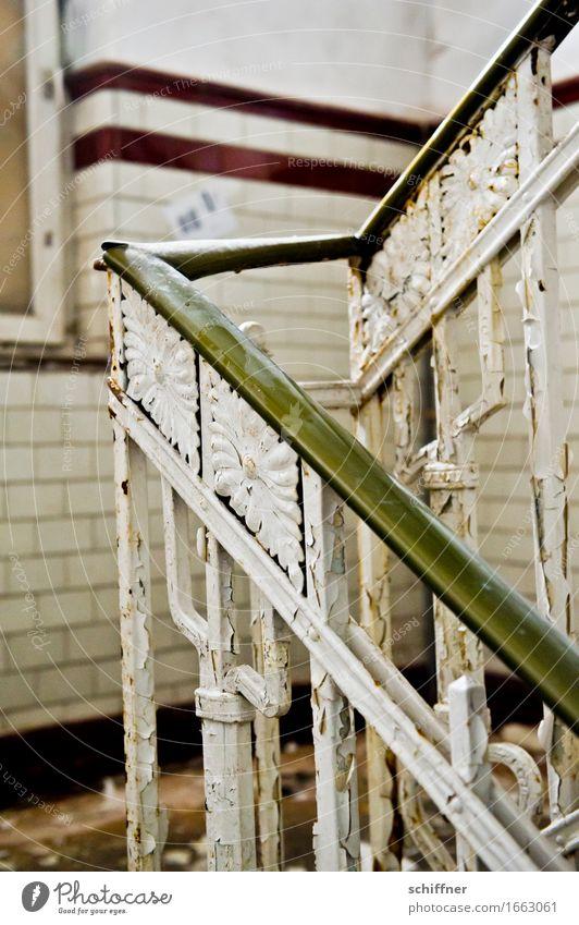 AST 9 | Stairway to Camembert alt Haus Mauer Treppe Geländer Fabrik verfallen Verfall Treppenhaus Treppengeländer Fliesen u. Kacheln abblättern Industrieanlage