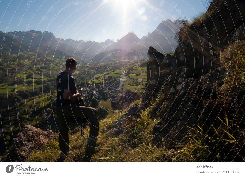 Lescun - Rise and Fall Mensch Natur Ferien & Urlaub & Reisen Mann Pflanze Sommer Sonne Landschaft Berge u. Gebirge Erwachsene Umwelt Wiese Felsen Tourismus