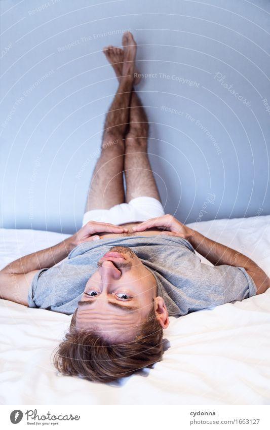 Frauenpose Lifestyle schön Bett Mensch Junger Mann Jugendliche Leben 18-30 Jahre Erwachsene ästhetisch Beratung Erotik exotisch Freude Gesellschaft (Soziologie)