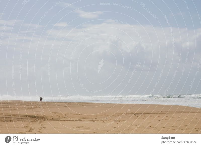 Atlantikstrand Frankreich II Mensch Himmel Natur Ferien & Urlaub & Reisen Sommer Wasser Meer Landschaft Wolken Ferne Strand Leben Frühling Herbst Küste Stimmung