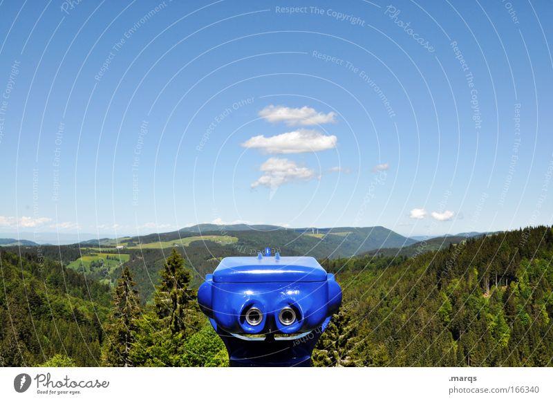 Die weiteren Aussichten Farbfoto Außenaufnahme Textfreiraum oben Tag Totale Tourismus Ausflug Ferne Natur Landschaft Pflanze Himmel Wolken Sommer Schönes Wetter
