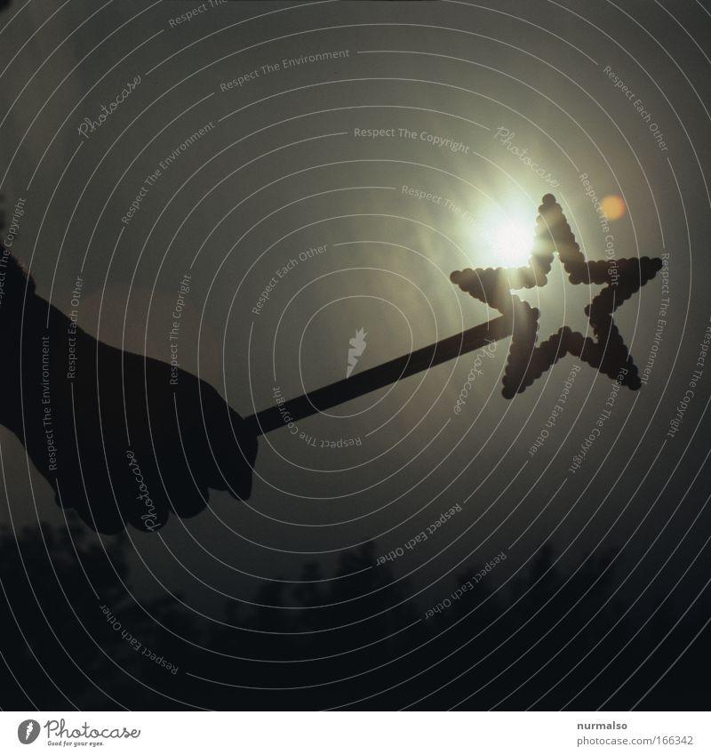 black star on sun Mensch Kind Natur Hand Himmel Sonne Ferne dunkel Gefühle Spielen Freiheit Glück Herz Kunst glänzend Lifestyle