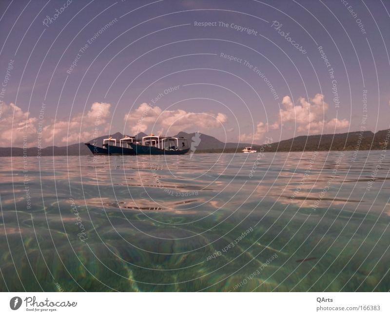 Menjangan National Park Himmel Ferien & Urlaub & Reisen Sonne Meer Sommer Freude Wolken ruhig Ferne Erholung Küste Wellen Insel Abenteuer Tourismus tauchen