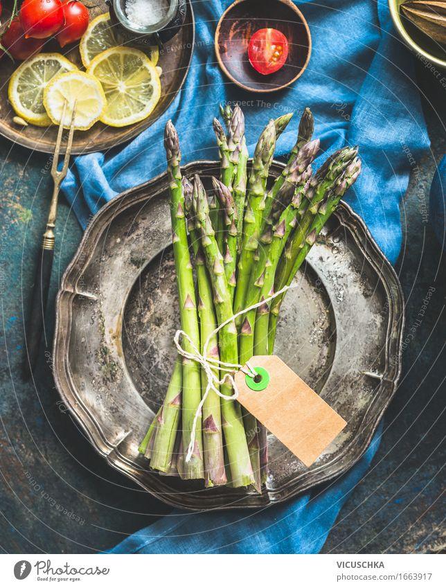 Spargelzeit Gesunde Ernährung Leben Stil Lebensmittel Design Tisch Kräuter & Gewürze Küche Gemüse Bioprodukte Restaurant Geschirr Teller altehrwürdig Abendessen