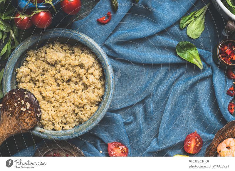Hintergrund für Quinoa Kochrezepte Lebensmittel Gemüse Salat Salatbeilage Getreide Kräuter & Gewürze Ernährung Mittagessen Abendessen Bioprodukte