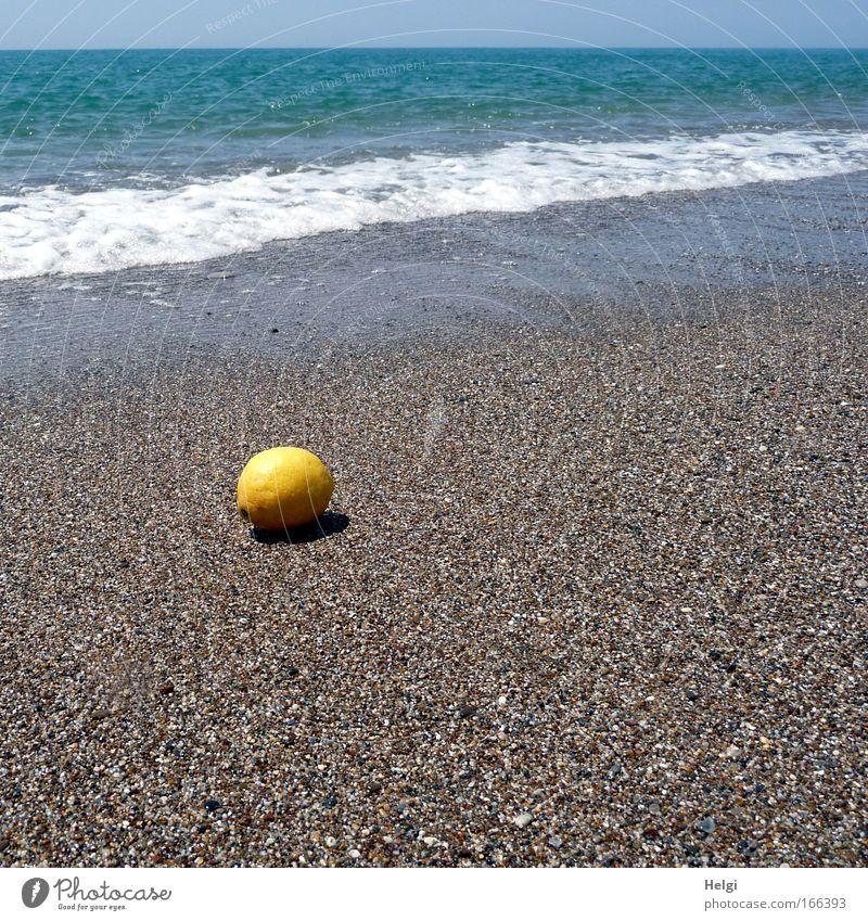Fundsache... Natur Wasser Himmel Meer blau Sommer Strand Ferien & Urlaub & Reisen gelb Bewegung Wärme Sand Wellen Küste Gesundheit klein