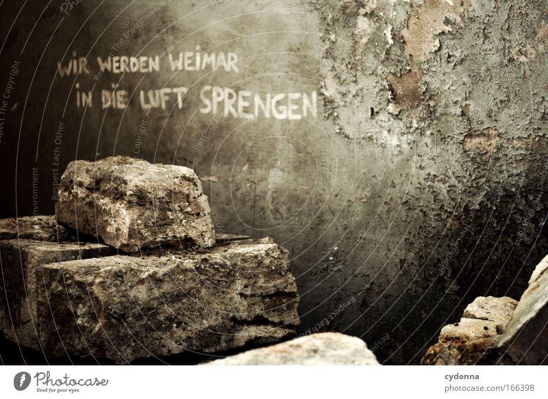 Zukunftsorientiert Wand Leben Gefühle Mauer Schriftzeichen Perspektive Kommunizieren Kreativität bedrohlich planen Wandel & Veränderung Macht geheimnisvoll