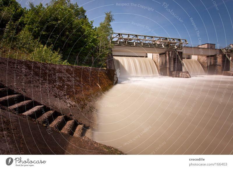Wasserkraft III Himmel Natur Wasser Wolken Umwelt Bewegung Kraft Energiewirtschaft Beton Klima Treppe ästhetisch Industrie Fluss Bauwerk Schönes Wetter