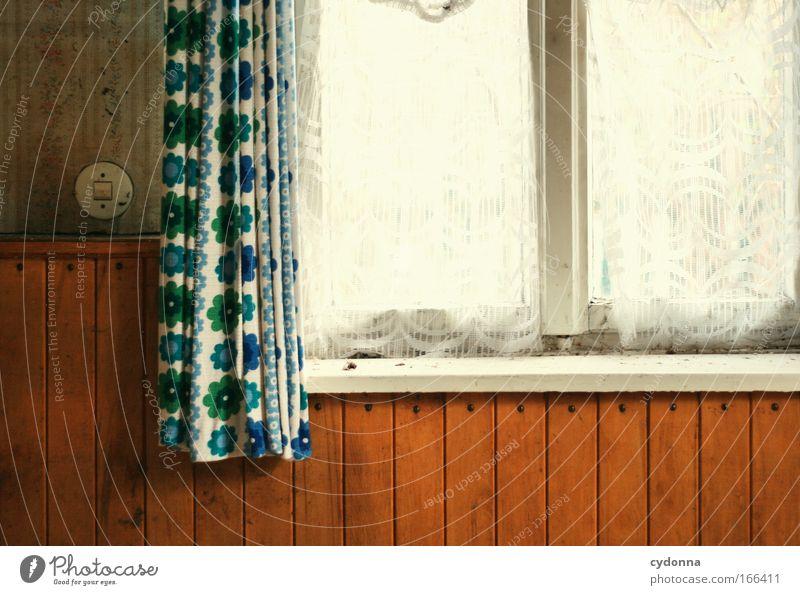 Gartenlaube Ferien & Urlaub & Reisen ruhig Leben Wand Gefühle Stil Fenster träumen Traurigkeit Mauer Design Zeit retro Wandel & Veränderung Freizeit & Hobby Kitsch