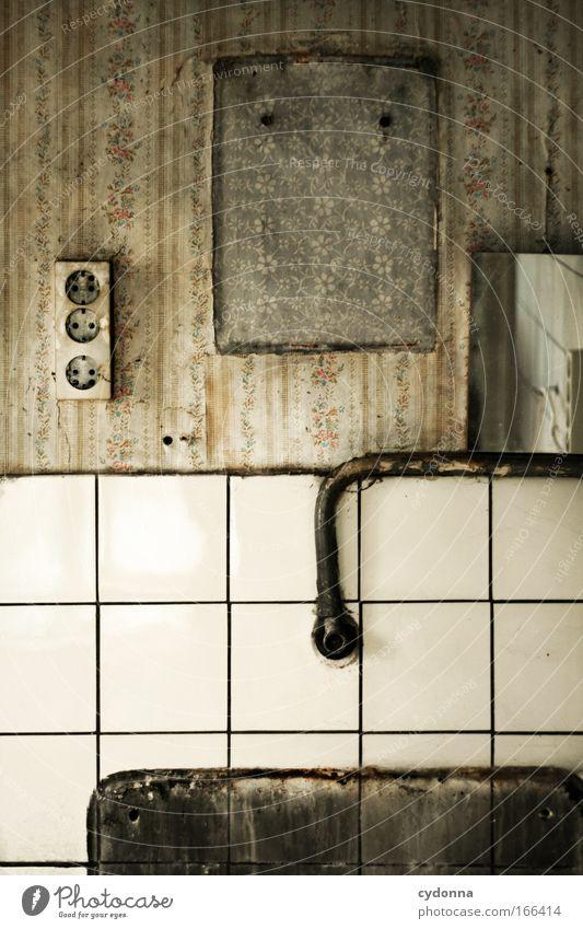 Das Drumherum Leben Wand Gefühle Mauer Traurigkeit träumen Zeit Design ästhetisch planen Häusliches Leben Wandel & Veränderung Kommunizieren Vergänglichkeit Bad