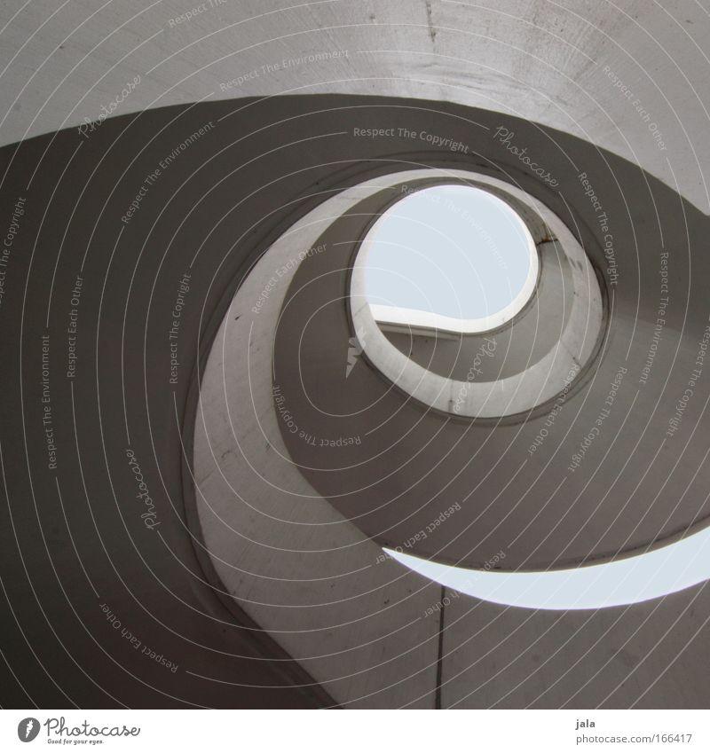 stair circle Himmel Treppe Wendeltreppe Wahrzeichen ästhetisch elegant groß hoch modern rund Beton Strukturen & Formen Spirale Bauwerk Gedeckte Farben