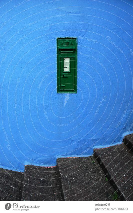 Irish Letterbox. alt grün blau Ferien & Urlaub & Reisen Wand Treppe Kommunizieren Telekommunikation Dorf Postkarte historisch E-Mail aufwärts Leuchtturm
