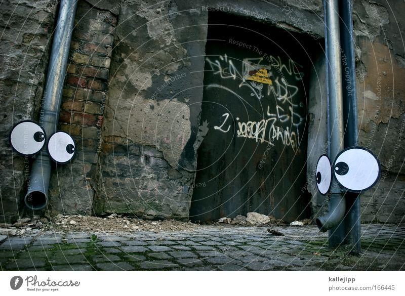 elefantenrunde Liebe Auge Tier grau Mauer Tür Kommunizieren Romantik Tiergesicht Sehnsucht Zoo Gesicht Comic Treue Elefant Literatur