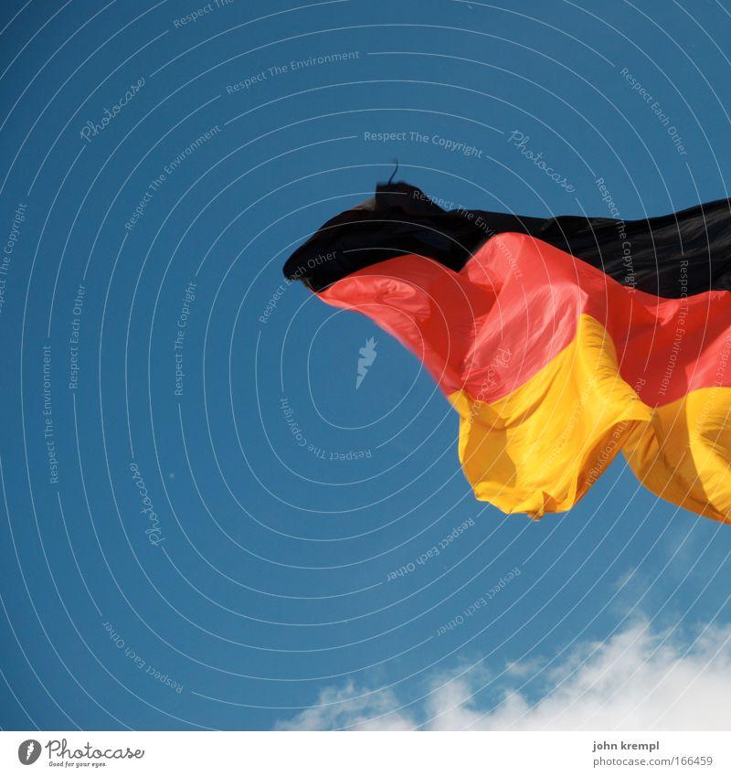 sie zogen aus mit bunten wimpeln Himmel Wolken mehrfarbig Deutschland Wind Europa Zukunft Fahne Deutsche Flagge Deutscher Bundestag Politik & Staat Patriotismus