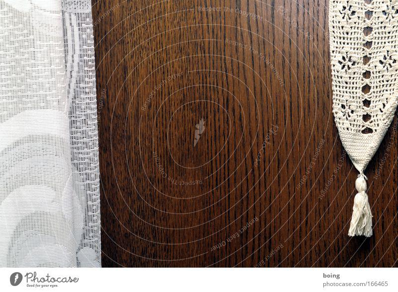 Zipfel ruhig Holz elegant Kitsch Dekoration & Verzierung Häusliches Leben Lebensfreude Stoff Duft Vorhang kuschlig Accessoire Heimweh Schrank Handarbeit