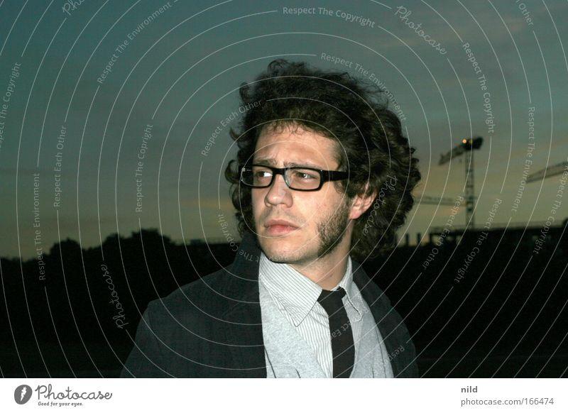 Backboard, Backbert, Backenbart Mensch Jugendliche Gesicht dunkel Haare & Frisuren Erwachsene Mode Mann Künstler Behaarung maskulin Brille Hemd Bart Anzug