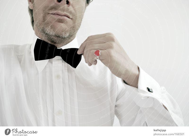 herz bube Detailaufnahme elegant Stil Design Veranstaltung ausgehen Feste & Feiern Flirten maskulin Gesicht Nase Mund Lippen Arme Hand Finger 1 Mensch