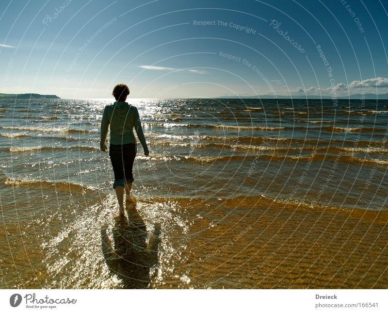 nasse angelegenheiten Mensch Himmel Wasser blau Sonne Meer Strand Ferne Leben Freiheit Bewegung Wärme Küste See träumen hell