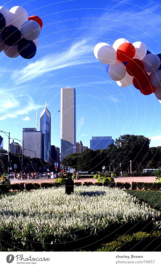 chicagos luftballons Luftballon Skyline New York City Chicago