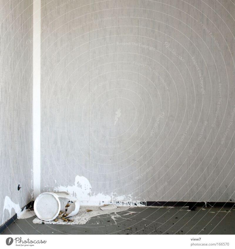 Renovierung wurde abgebrochen alt weiß Farbe Arbeit & Erwerbstätigkeit Wand Mauer Raum klein kaputt Baustelle Dekoration & Verzierung Wut Innenarchitektur