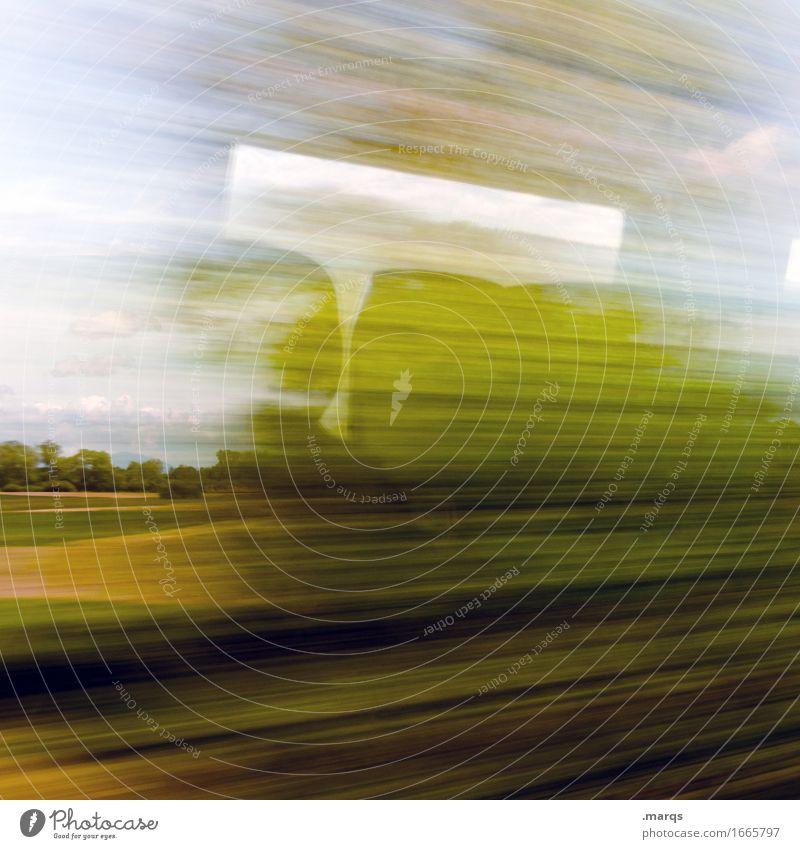 Von B nach A Himmel Natur Ferien & Urlaub & Reisen Sommer schön Landschaft Ferne Wiese Bewegung Tourismus Verkehr Ausflug Sträucher Zukunft Schönes Wetter