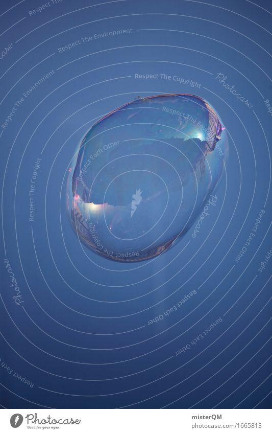 Blue Bubble. Kunst Kunstwerk ästhetisch Blase leicht Seifenblase Blauer Himmel Strukturen & Formen Design Farbfoto mehrfarbig Außenaufnahme Detailaufnahme